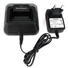 Li-ion Radio Caricabatteria per Baofeng BF-UV5R Walkie Talkie 100v-240v nero