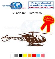 2 adesivi tuning Elicottero militaria decals militare adesivo stickers