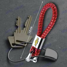 Red For Chevy Chevrolet Emblem Key Chain Ring BV Style Leather Gift Decoration L