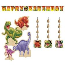 Dino Blast Decoration Party Supply Pack Banner, Hanging Cutouts, and Centerpiece