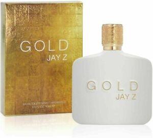 JAY Z GOLD EAU DE TOILETTE EDT SPRAY 90ML BRAND NEW