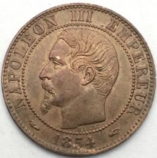 France Napoleon III 5 centimes 1854 A bronze #1101