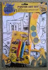 My 1st JCB Poster Art Set - Posters Paint Pencils Stickers - New In Pack