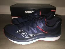 Saucony Guide ISO Everun Size 9.5 10 Men's Running Shoes Navy Blue Red S20415-3