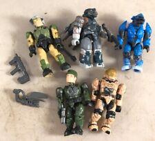 mega bloks halo figures Bundle X5 plus some weapons Mini Figures