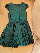 Girls Clothes Age 7 Years Next Emerald Green Party Dress Vgc Pretty (363)