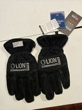 New Listinglion Commander Ace Structural Firefighting Gauntlet Leather Gloves Black Sz Xl