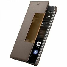 Huawei P9 Brown Smart View Flip Case Cover - 40276306