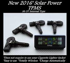 TPMS SOLAR POWER TIRE PRESSURE MONITOR + 4 SENSOR FIT OEM MAZDA 2 3 5 6 CX-5 KIA