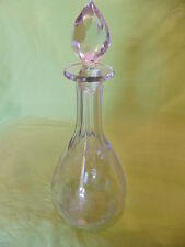 Bleikristall Kristallglas Karaffe mit Stõpsel Theresiental  33 cm Handschliff
