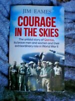 BOOK COURAGE IN THE SKIES STORY OF QANTAS WORLD WAR 2 336 PAGES ILLUSTRATED