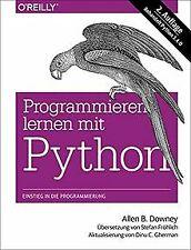 Programmieren lernen mit Python von B. Downey, Allen | Buch | Zustand gut