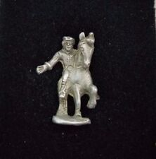 Paul Revere's Ride Pewter Tie Bar Clip Pin Clasp with Chain Tie Tack USA History