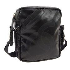 CHANEL Sport Line CC Cross Body Shoulder Bag Black Coating Canvas Y04360