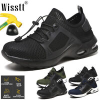 Breathable Steel Toe Cap Safety Shoes Mens Womens Work Boots Hiking Air Trainers