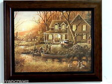 RABBIT  PICTURE CABIN COUNTRY HOUSE PERO OLD TRUCK FRAMED PRINT 8X10