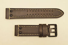 Luminox watch band 1820 1840  Field  Dark Brown leather 23mm strap with  rivets