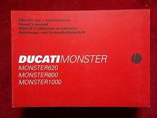 DUCATI  MONSTER 620 MONSTER 800 MONSTER 1000 NEW OWNERS MANUAL DUC002