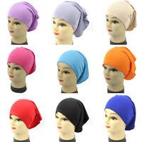 NEW Womens Under Scarf Hijab Tube Bone Bonnet Cap MANY Colours Stretchable