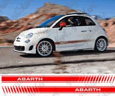 2x Fiat 500 Abarth Seitenstreifen Aufkleber Sticker Decal Dekor Tuning