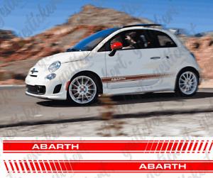 2x Fiat 500 Abarth Seitenstreifen Aufkleber Sticker Decal Dekor Tuning Stripe