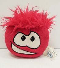 "DISNEY CLUB PENGUIN RED PUFFLE 6"" PLUSH Stuffed BEAN BAG Smiley Doll Toy"