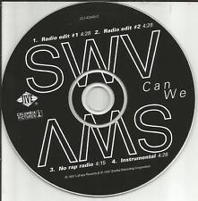 SWV Can We w/ 2 RARE EDITS & INSTRUMENTAL &RARE VERSION PROMO Radio DJ CD single