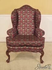 28153E:  FAIRFIELD Queen Anne Wing Back Easy Chair