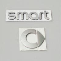 SMART Emblem Neu  Logo Zeichen Aufkleber Heckklappe Schriftzug Silber Matte