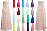 Long New Formal Chiffon Evening Ball Gown Party Prom Bridesmaid Dress Size 6-18