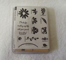 Stampin' Up! Watercolor Garden Set of 13 Stamps - Retired - 2000 - New