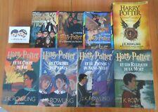LOT de 8 Livres SERIE HARRY POTTER INTEGRALE COMPLETE Tome 1 à 8 J. K. ROWLING