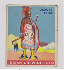 1933 Goudey Indian Gum Card No.17 Chief of the Osages Tribe Series of 48 Cards