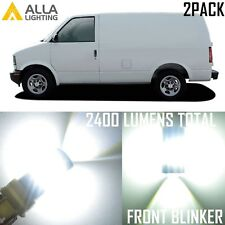 Alla Lighting LED Front Turn Signal Light 3157 Blinker Bulb Lamp for Chevy,White