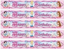 DISNEY PRINCESS HAPPY BIRTHDAY PARTY FOIL BANNER DECORATION 4.5 METRES