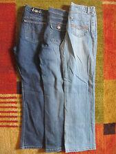 Girls Flare Stretch Blue Jeans Denim Pants Sz 14 reg So L.E.I Canyon River Blues