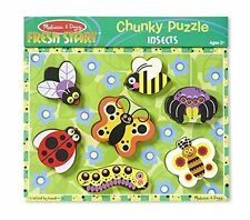 Melissa and Doug Insects Chunky Puzzle 7 Pieces #3729 NEW