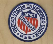 """United States Tae Kwon Do Union 3.5"""" Patch  Red, white, blue"""