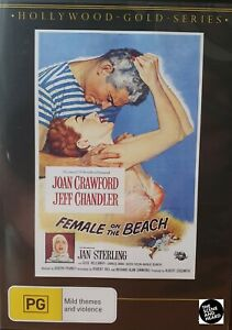 FEMALE ON THE BEACH DVD 1955 NEW Region 4 Joan Crawford, Jeff Chandler VERY RARE