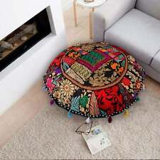 18'' Round Decorative Cushion Cover New Embroidery Patchwork Home Decor Ethnic
