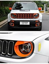 front lamp light cover bar trim moulding protector fit JEEP renegade 2015-2017