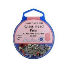Hemline 34mm Glass Head Pins H679