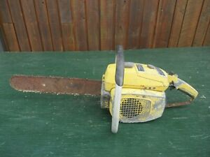 """Vintage McCULLOCH 3027 810 Chainsaw Chain Saw with 16"""" Bar"""