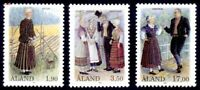 ALAND 1993 COSTUMES SET OF ALL 3 COMMEMORATIVE STAMPS MNH