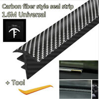 1.6m Carbon Fiber Car Dashboard Gap Filling Sealing Rubber Strip Universal New