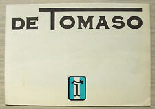 DE TOMASO Car RANGE Sales Brochure 1975 PANTERA L GTS Deauville LONGCHAMP 2+2