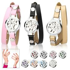 316L Steel Aromatherapy Bangle Essential Oil Locket Diffuser Bracelet + 8 Pads