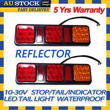 2x 12v 24v LED Tail Light UTE Trailer Caravan Stop Tail Indicator Reflector
