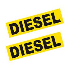 2x Diesel Fuel Reminder Vinyl Stickers BLACK on YELLOW 80mm Car Taxi Van & Bus