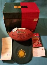 JOE MONTANA Autographed NFL WILSON Football with COA and Video